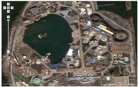 Image satelitte de la ronde